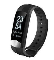 CD01 Фитнес браслет HD дисплей ЭКГ тонометр, пульсометр для iPhone Android, трекер калорий, сон, бег, черный