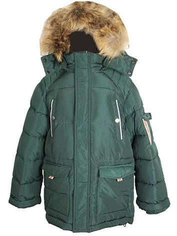 Детская куртка зимняя для мальчика 6 лет New Soon, фото 2