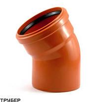 Колено 110*45 для наружной канализации Инсталпласт