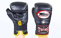 Снарядные перчатки кожаные TWINS TBGL-1F-BK (р-р M-XL, черный)