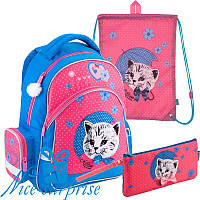 Школьный набор для девочки Kite Pretty kitten K18-521S-2 (1-4 класс)