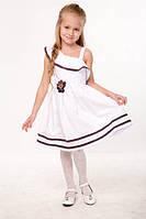 """Летнее платье для девочки """"Луиза"""" - белая лента Код:11265"""