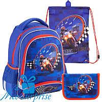 Школьный набор для мальчика Kite Motocross K18-517S (1-4 класс)