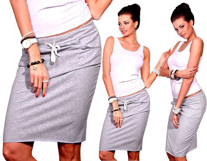 Спортивная юбка Ketty серая (код 049)