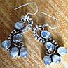 """Серьги  с натуральным лунным камнем """"Голубые"""" от студии LadyStyle.Biz"""