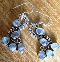 """Серьги  с натуральным лунным камнем """"Голубые"""" от студии LadyStyle.Biz, фото 1"""