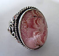 Восточное кольцо с родохрозитом , размер 17,2 от студии LadyStyle.Biz, фото 1