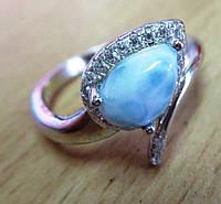 "Красивое кольцо с  ларимаром  ""Поцелуйчик"", размер 18 от студии LadyStyle.Biz, фото 1"