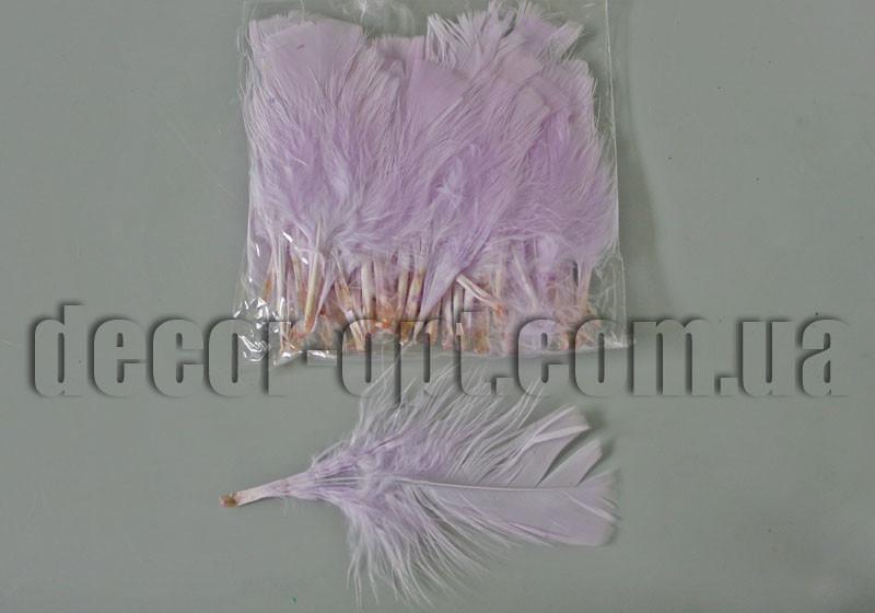 Перья сиреневые с пухом обрезанные 7-12см /≈50 шт