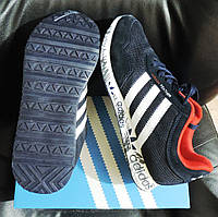 Кроссовки мужские Adidas Feather. Летние кроссовки сетка+замша, аналог, фото 1