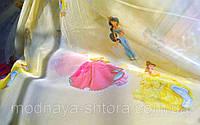 """Тюль шифоновая """"Принцессы"""" (желтый), фото 1"""