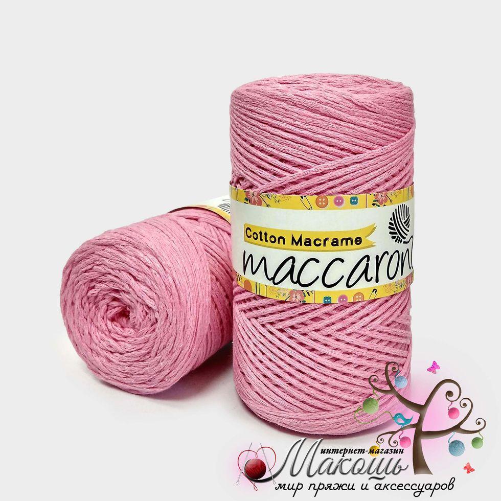 Пряжа Maccaroni Cotton Macrame Коттон Макраме, №931, розовый