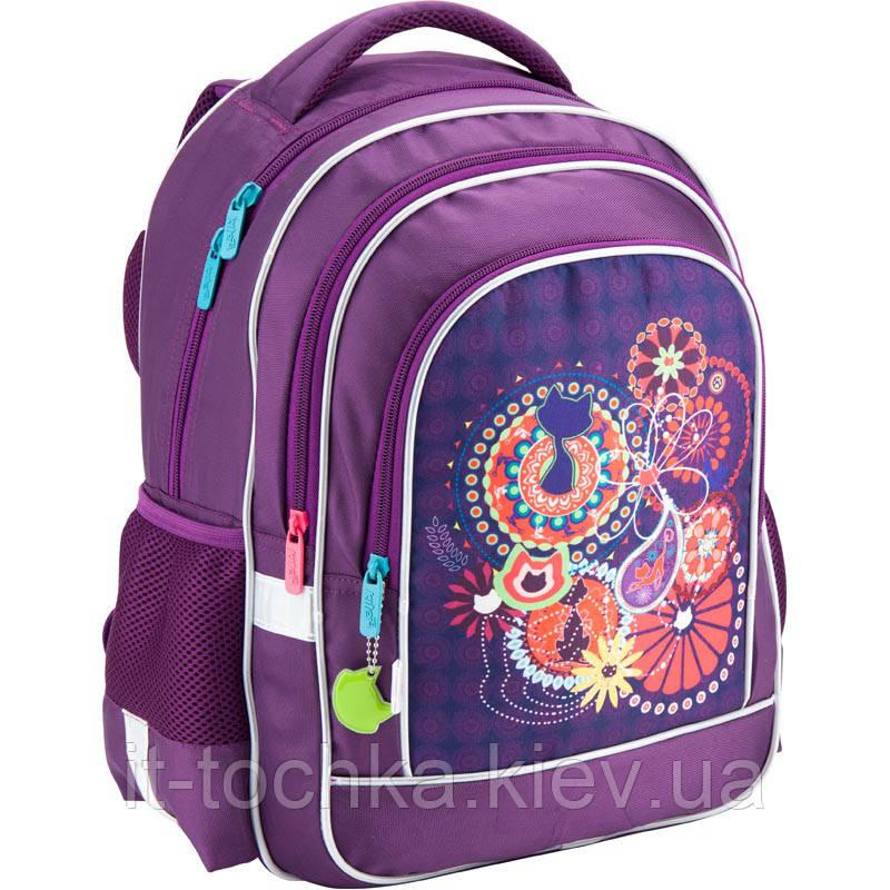 08e43c59b352 Школьный ортопедический рюкзак kite k18-509s catsline для младшей школы
