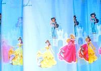 """Тюль шифоновая """"Принцессы"""" (голубой), фото 1"""