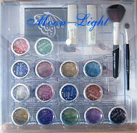 Набор для временных татуировок MoonLight (15 цветов, 40 картинок, 2 клея, кисти)