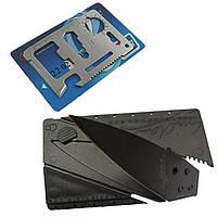 Нож визитка + Мультитул 11 в 1. Карманный набор из 2-х карт.