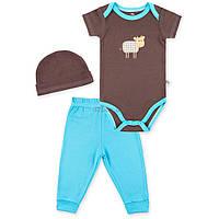 Набор детской одежды Luvable Friends из бамбука с рисунком животных голубой для мальчиков (68353.0-3)