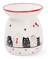 "Арома-лампа керамическая ""I Love My Cat"" Ø9.2х10.6см"