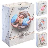 "Пакет бумажный подарочный ""Baby"" 26*32*10см 12шт/уп N00430 (480шт)"