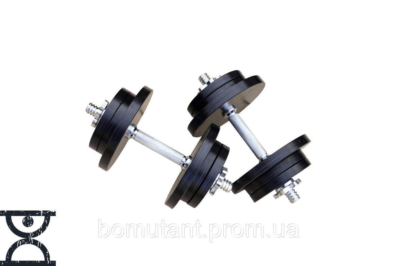 Гантели разборные по 22 кг (стальные)