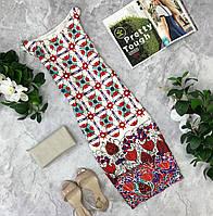 Платье - чехол с купонным принтом  DR1823100