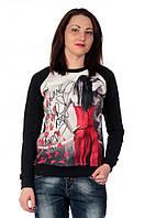 Женский свитшот реглан фотомодель 118 #O/V