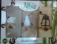 Мягкие вафельные полотенца с бамбуковой ниткой, 30х50 см. - 3 шт., 230/193 (цена за 1 наб. + 37 гр.)