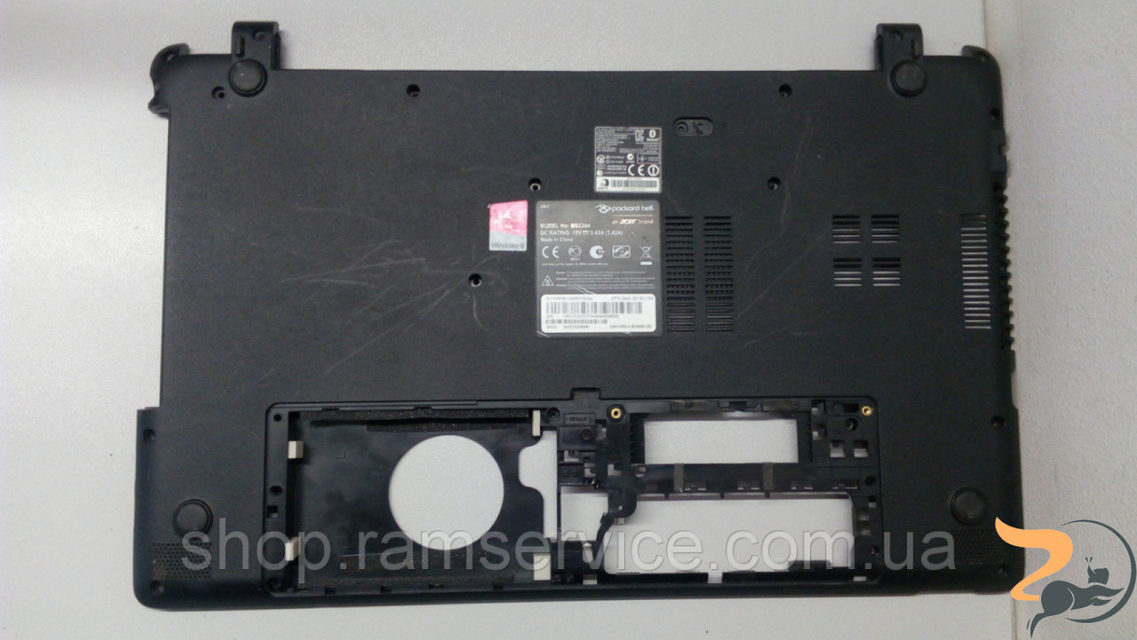 Нижня частина корпуса для ноутбукаPackard Bell ENTE69KB, MS2384, б/в