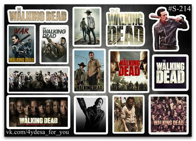 Stickers Pack The Walking Dead, Ходячие Мертвецы #214