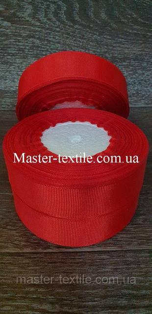 Репсовая лента ширина 2,5 см., 25 ярдов (красный)