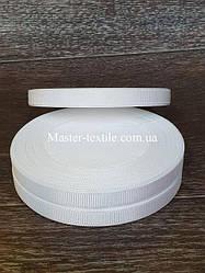 Репсовая лента ширина 1 см., 25 ярдов (белый)
