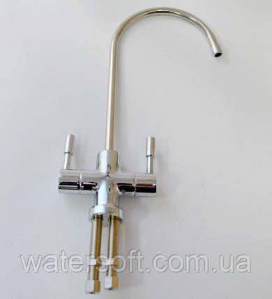 Кран для фильтров воды двойной в стиле Hi-Tech, фото 2