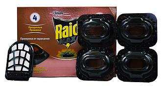 """Приманка для тараканов """"Raid"""" 4 приманки + 1 регулятор"""
