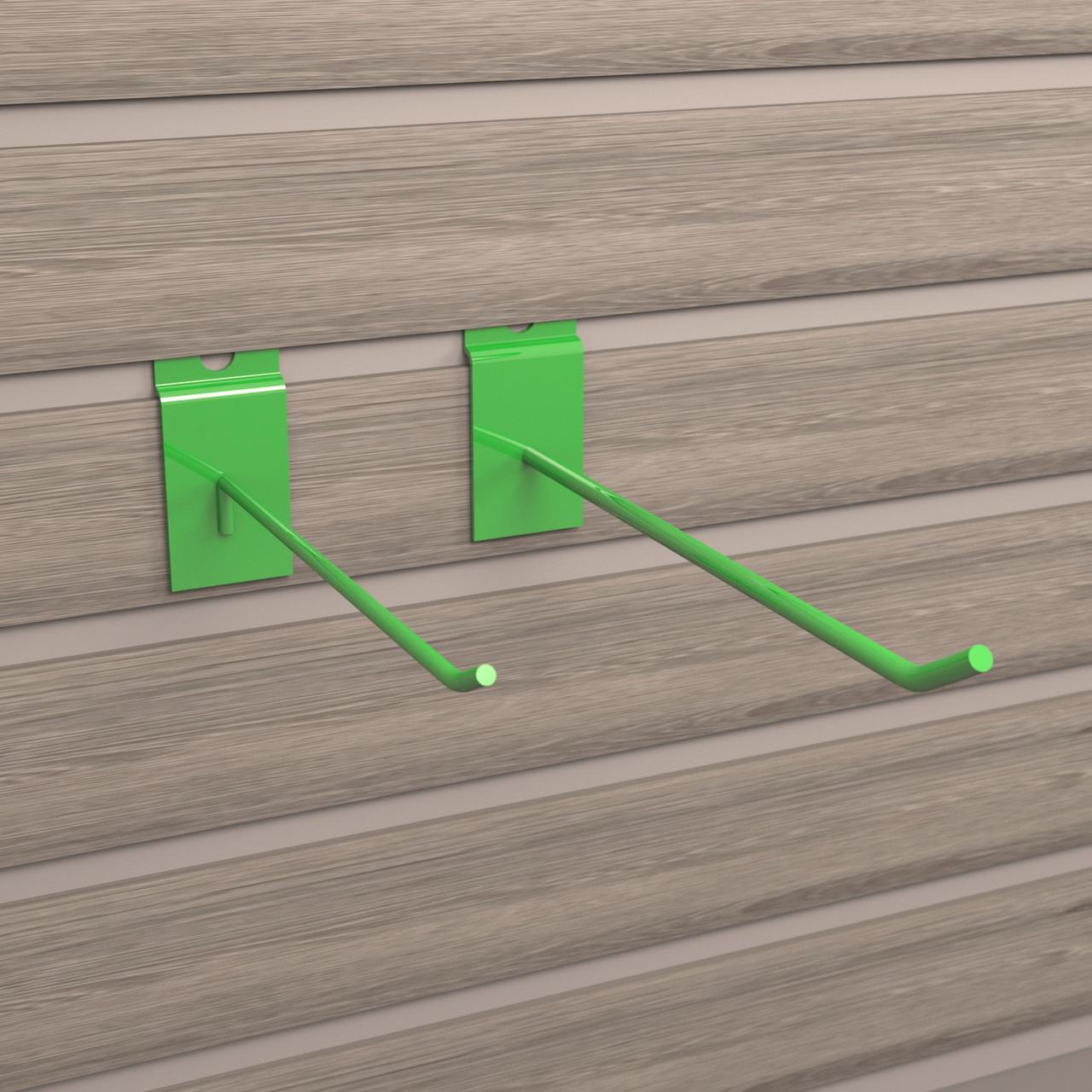 Крючки для экономпанелей | зеленые 150 мм