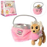 """Собачка Кики """"Принцесса красоты"""" в меховой сумочке  3481, фото 1"""