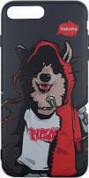 Чехол-накладка PUZOO TPU Glossy Surface IMD Hip Hop iPhone 7 Plus /8 Plus MC Husky Black, фото 1