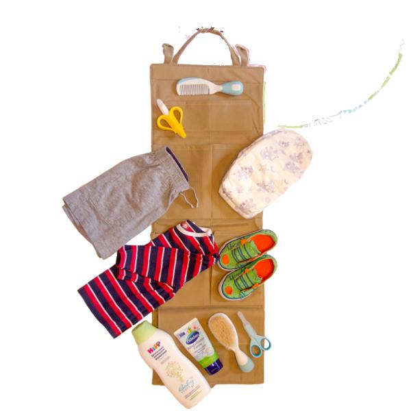 Подвесной органайзер для шкафчика в детский сад ORGANIZE E002 бежевый