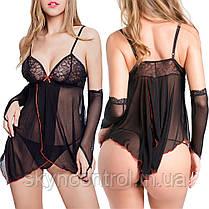 Utimi Ажурный пеньюар Сексуальное платье с глубоким V-образным вырезом с кружевным бюстгальтером, фото 3