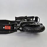 Самокат двухколесный S 00148 надувные колеса амортизаторы и дисковый тормоз, фото 5