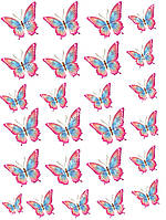 "Вафельная картинка ""Бабочки"" - 1"