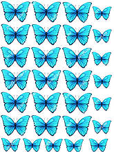 "Вафельная картинка ""Бабочки"" - 3"