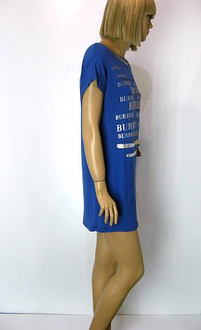 Футболка жіноча з принтом Burberry  синього кольору, фото 2