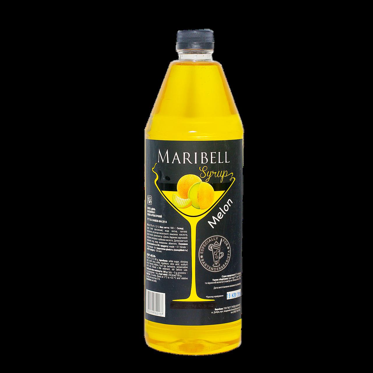 """Сироп коктейльный Maribell  """"Дыня"""" 1л ПЭТ"""