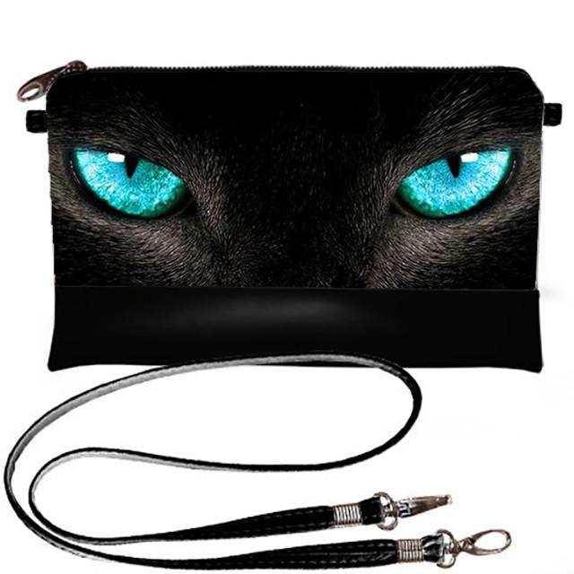 Клатч с принтом Кошка с голубыми глазами