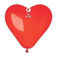 """Воздушные шары сердце 6""""(15 см) 42 Красный  пастель В упак: 100шт. ТМ """"Gemar"""" Италия"""