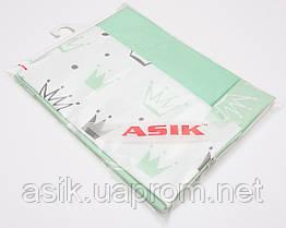 Сменная детская постель Asik Мятные короны 3 предмета (С-0041)