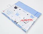 Сменная детская постель Asik Голубые короны 3 предмета (С-0042)