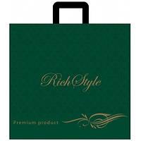 """Пакет с петлевой ручкой плотный 43х45см 25шт. """"Rich style"""" - зеленый"""