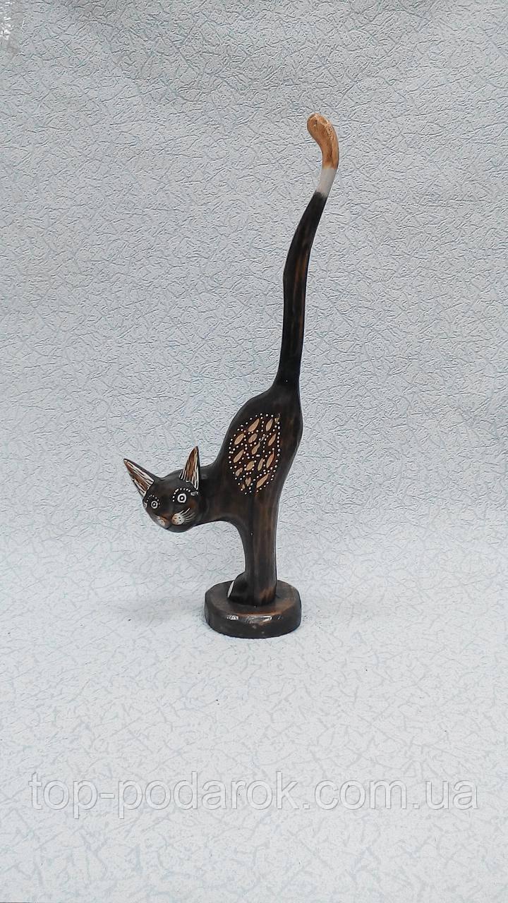 Статуэтка кошка деревянная высота 44 см