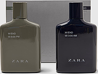 ZARA W/END till 8:00 / till 3:00 Men set EDT 100ml + 100ml Набор подарочный (оригинал подлинник  Испания)